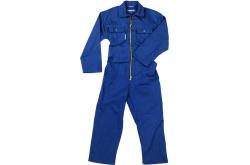 Kinderoverall blauw met rits maat 92
