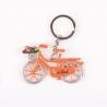 Sleutelhanger fiets oranje met tulpen