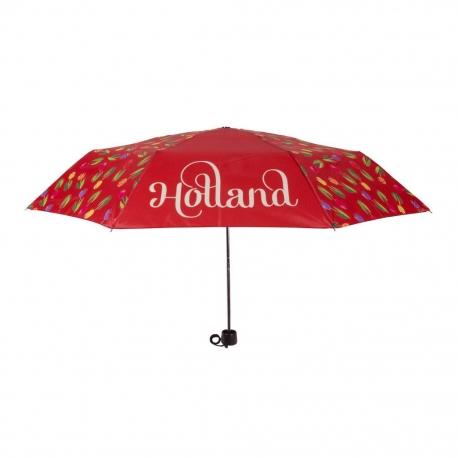 Paraplu Rood met tulpen