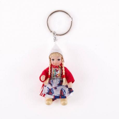 Sleutelhanger klederdracht pop rood