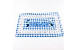 Placemat blauwe ruit kuspaar Holland 43 x 28 cm