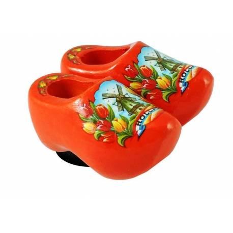 Magneetklompjes Oranje + tulpen 4 cm