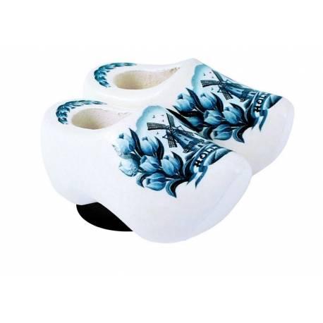 Magneetklompjes Delftsblauw met tulpen 4 cm