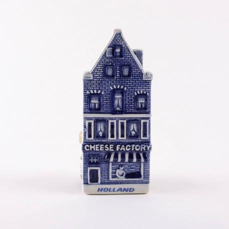 Magneet  Keramiek Huisje Kaaswinkel Delftsblauw