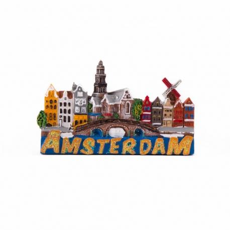 Magneet Amsterdamse Huisjes glitter