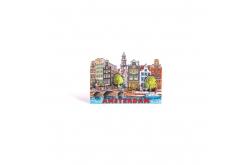 Magneet 2D MDF compilatie gracht Amsterdam