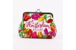 Knip portemonnee groot tulpen Amsterdam